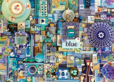 Rainbow Project: Blue - 1000pc Jigsaw Puzzle by Cobble Hill