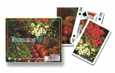 Winter Blossoms - Double Deck Playing Cards