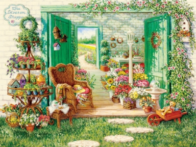 The Blossom Shoppe - 500pc Jigsaw Puzzle by Cobble Hill