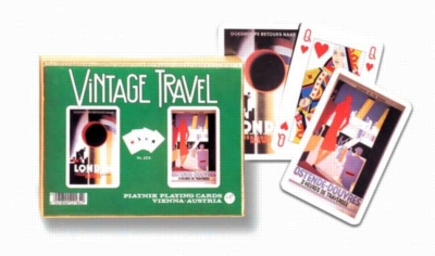 Vintage Travel - Double Deck Playing Cards