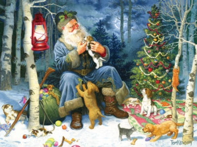 Old World Santa - 400pc Family Puzzle by Cobble Hill