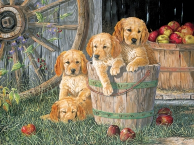 Puppy Pail - 400pc Family Puzzle by Cobble Hill