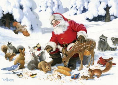 Santa Claus and Friends - 350pc Family Jigsaw Puzzle by Cobble Hill