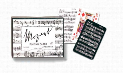 Mozart Black & White - Double Deck Playing Cards