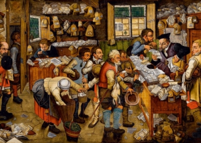 Breughel: The Payment of the Tithes - 1000pc Jigsaw Puzzle by D-Toys