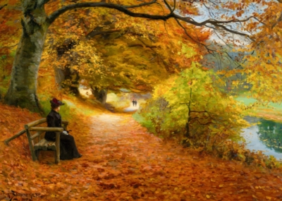 Brendekilde: A Wooded Path in Autumn - 1000pc Jigsaw Puzzle by D-Toys