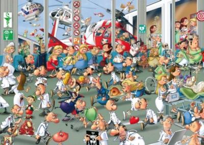 Ruyer: Accidents & Emergencies - 1000pc Jigsaw Puzzle by Piatnik