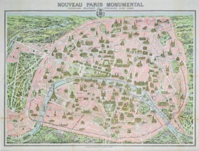 Paris Map, 1910 - 1000pc Jigsaw Puzzle by Piatnik