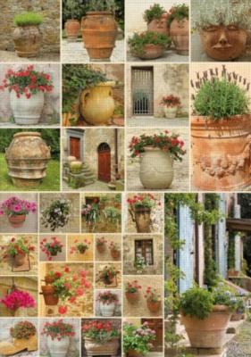 Clay Pots with Flowers - 1000pc Jigsaw Puzzle by Piatnik