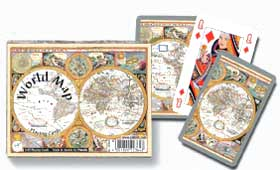 World Map - Double Deck Playing Cards