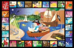 ABC Pirate - 24pc Jigsaw Puzzle by White Mountain