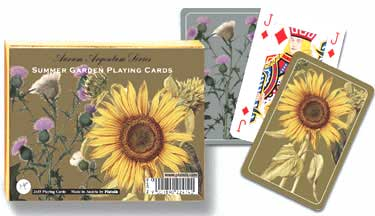 Gold/Silver: Summer Garden - Double Deck Playing Cards