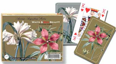 Gold/Silver: Red & White - Double Deck Playing Cards