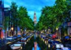 Amsterdam Canal At Dusk - 1500pc Jigsaw Puzzle by Educa