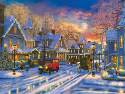 Small Town Holiday - 300pc Jigsaw Puzzle By Sunsout