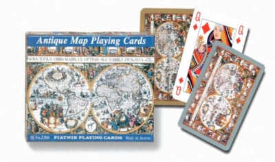 Antique Map - Double Deck Playing Cards