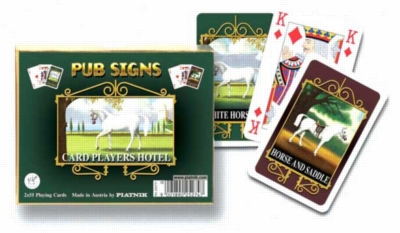 Pub Signs: White Horse - Double Deck Playing Cards