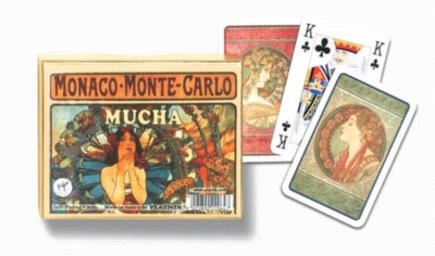 Mucha: Monte Carlo - Double Deck Playing Cards