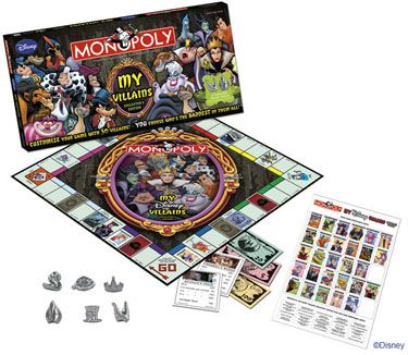 Monopoly: My Disney Villains Edition - Board Game