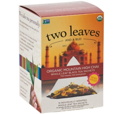 Two Leaves Tea: Organic Mountain High Chai - Box of 15 Sachets