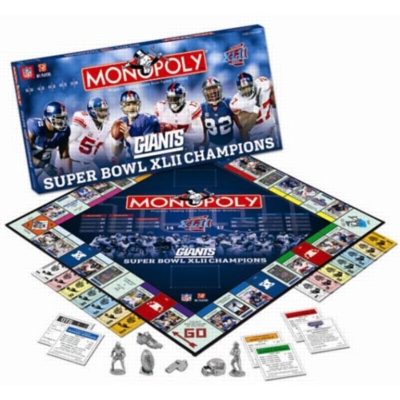 Monopoly: Giants Super Bowl XLII Edition - Board Game