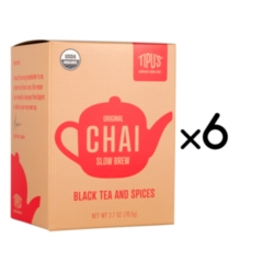 Tipu's Organic Slow Brew Chai Tea - Case of 6