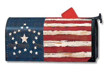 Antique Flag - Mailbox Cover By Magnet Works