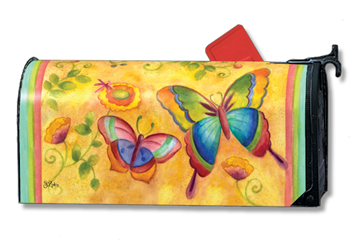 Brilliant Butterflies - Mailbox Cover By Magnet Works