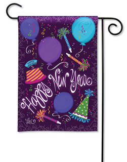 Happy New Year - Garden Flag by Magnet Works