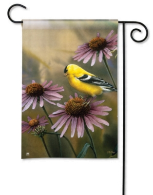 Coneflower Goldfinch - Garden Flag by Magnet Works