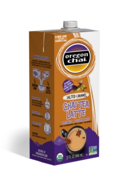 Oregon Chai Liquid: Salted Caramel - 32oz Carton
