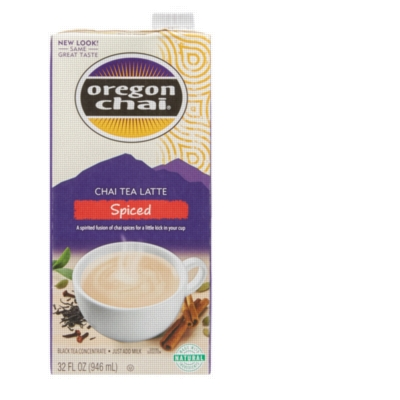 Oregon Chai Liquid: Spiced - 32oz Carton