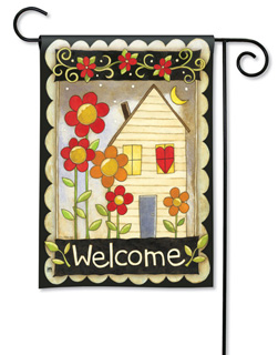 Welcome Home - Garden Flag by Magnet Works
