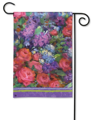 Roses & Lilacs - Garden Flag by Magnet Works