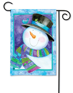 Jolly Snowman - Garden Flag by Magnet Works