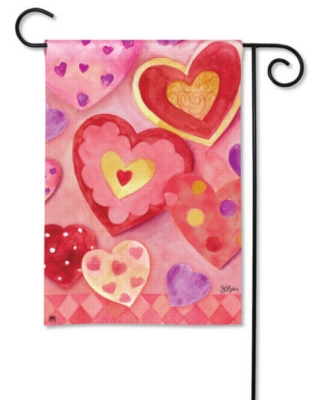 Mixed Hearts - Garden Flag by Magnet Works