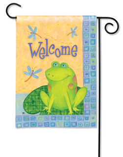 Toadally Welcome - Garden Flag by Magnet Works