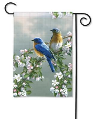 Bluebirds & Blossoms - Garden Flag by Magnet Works