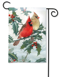 Cardinal Pair - Garden Flag by Magnet Works