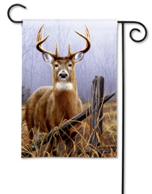 Watchful Buck - Garden Flag by Magnet Works