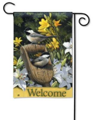 Summer Chickadees - Garden Flag by Magnet Works