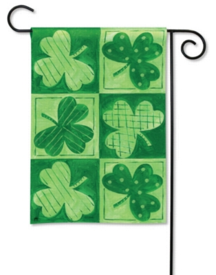 Shamrocks - Garden Flag by Magnet Works