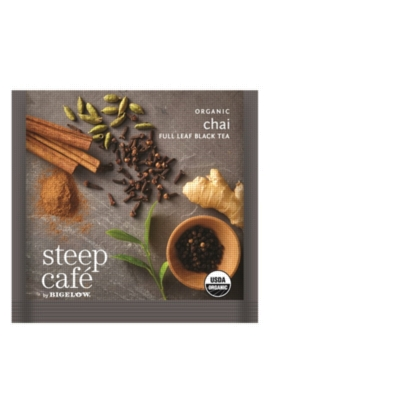 Steep Café Tea by Bigelow: Organic Chai - Individually Wrapped Tea Bag