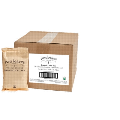 Two Leaves Tea: Organic Black - Box of 24 3oz. Pouches Loose Leaf Iced Tea