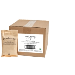 Two Leaves Tea: Organic Peach Black - Box of 24 3oz. Pouches Loose Leaf Iced Tea