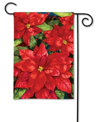 Red Poinsettia - Garden Flag by Magnet Works