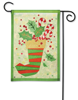Christmas Stocking - Garden Flag by Magnet Works