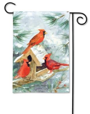 Cardinal Feeder - Garden Flag by Magnet Works
