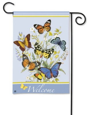 Butterflies - Garden Flag by Magnet Works