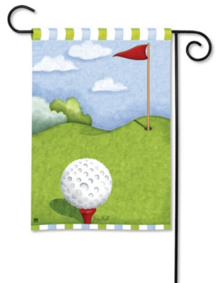 Tee Time - Garden Flag by Magnet Works